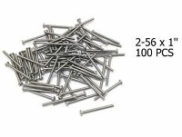"""Pack of 100pcs Screws 2-56 x 1""""  For Replace HO scale Freight Car Truck New"""