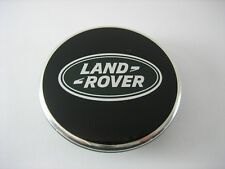 ONE (1) Land Rover Black with Green Oval Polished Wheel Center Hub Cap Genuine