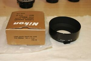 Original Nikon HS-12 52mm Snap-On Lens Hood for 50mm f/1.2 Lens - Mint !!!!