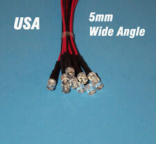 10 GREEN Wide angle 5mm Pre Wired LEDs 6 volt 6v PREWIRED rc USA