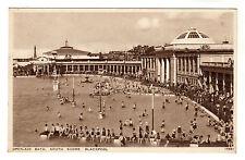 Open Air Bath - Blackpool Photo Postcard c1940s