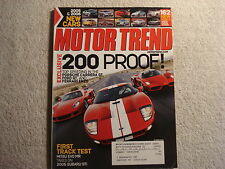 Motor Trend 2004 October Ford GT Ferrari Enzo Porsche Mini Cooper vs Hummer H2