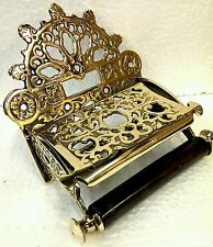Victorian Toilet Roll Holder Solid Brass .New