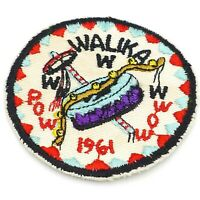 "1961 Walika Lodge OA Boy Scout Pow Wow Patch BSA WWW 3"" round cut edge"