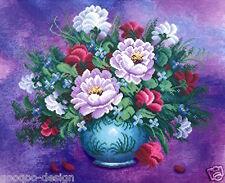 Kit punto croce Gartenblumen 40x52 cm bouquet fiori FAI TE #80051