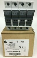 LOT OF 4 Allen Bradley 1492-FB1M30-D1 Fuse Holders 1P 30Amp 600V Series B
