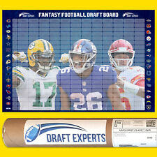 Draft Experts 2020 Fantasy Football Draft Board Kit / Rolled and Shipped in Tube