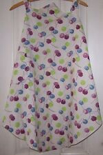 VINTAGE-HOME MADE-COTTON-FEED/FLOUR SACK/BAG FULL APRON-ABSTRACT FLOWER-KITCHEN