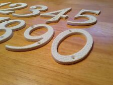 PLASTIC DOOR NUMBERS, 100mm AVAILABLE IN WHITE.