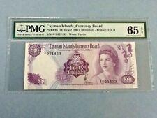 Cayman Islands P-9-A 1974 $40 Dollars Graded PMG 65 EPQ