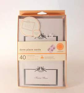 """New/Old Stock. Martha Stewart 40 Printable """"Dove Place Cards""""."""