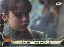 Star Wars Rogue One Series 2 Black Base Card #3 Trust The Force