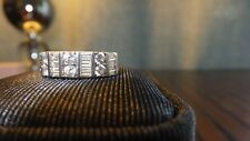 925 Silver Gem Set Half Eternity  Ring with clear stones (Diamonique)  - Size M