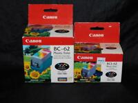 Canon BCI-62 Printer Photo Ink Tank For BJC-7000 2 Boxes Lot 6 Colors Each NEW