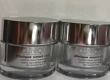 2 * 1OZ/30ml Clinique Smart NIGHT Custom-Repair Moisturizer DRY COMBINATION New