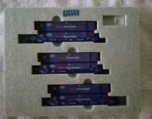 KATO 106-6166 GUNDERSON MAXI-IV PACER Double Stack 3 Car Set.