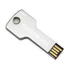 Lot 50 2GB USB Flash Drive 2G Key Shape Thumb Wholesale Logo Promo Bulk Pack