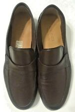 Gucci Loafers Shoes Brown Leather Slip On 368468 Mens Size 6.5M