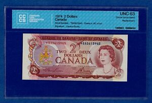 Canada $2 (1974) BC-47aA - *BA0615945 - Certified Replacement UNC-63 ✹CR0003✹