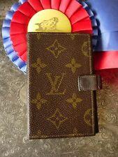 Vintage FC Saks LOUIS VUITTON Agenda Cover Portfolio Organizer Wallet LV Rare