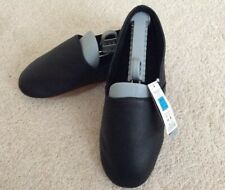 M&S Mens Leather Mules Slippers - Black UK8 New
