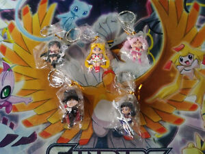 Sailor Moon Mini anime figure 5pc keychain set