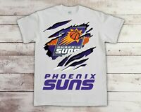 Phoenix Suns NBA Basketball Team T Shirt Gildan 100% Cotton