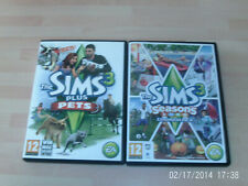 the sims 3 plus pets expansion pack  & sims 3 seasons expansion pack