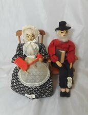 Vintage Wooden Ozark Dolls Grandma and Grandpa