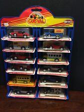 Rare Guisval Die cast Miniature Car Lot Of 12 With Display/Holder Opened