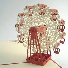 Ferris Wheel pop-up greeting card (beautiful & unique gift/decor/art)