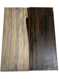 CLASSICAL Ziricote Guitar Back/OM Set Luthier Tonewood Book Match , #215