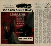 1958 Roblee She Dealer Brown She Company Win Austin Healey Vintage Print Ad 2842