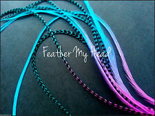 "Tie Dye Fade Feather Extensions Grizzly Rooster Feathers In Bright Colors 7""-9"""