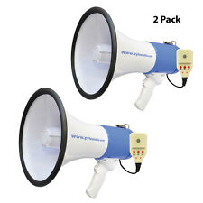 Pair of Pyle PMP59IR 50W Megaphone W/ Record & Rechargeable Battery iPod/MP3 I/P