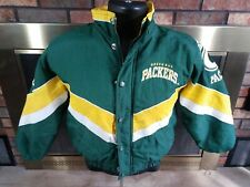 Vintage 90s Starter Pro Line NFL Green Bay Packers Puffer Jacket Youth Sz Small
