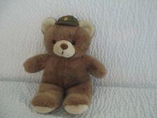 "Harrods Soft Plush Brown 13"" Teddy Bear Wearing A Ball Cap Free Shipping"