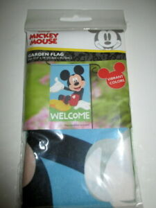 "DISNEY MICKEY MOUSE WELCOME  GARDEN FLAG 12.5"" X 18"" BRAND NEW IN PACKAGE"
