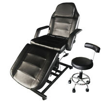 Electric Lift Portable Massage Table Chair Facial Bed w/Tattoo Salon Motor Stool