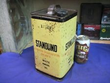 STANDARD OIL CO  CAN STANOLIND WHITE MINERAL EARLY 1900'S ORIGINAL antique 1 GAL
