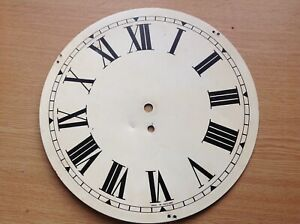 """Wall Dial Clock Face Painted Metal 12"""""""