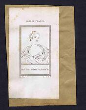 France Madame de Pompadour & Italian Poet Luigi Pulci - 1806 Copper Prints