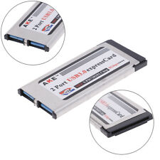 !2 Ports USB 3.0 express card expresscard 34mm/54mm hidden adapter for laptop FD