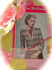 Vintage 40s Knitting Pattern Lady's Traditional Fair Isle Cardigan 36-38in. Bust