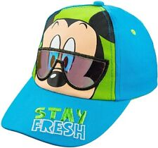 Disney Mickey Mouse Wearing Sunglasses Toddler Boys Baseball Cap Hat STAY FRESH!