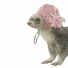 MARSHALL PET FERRET PINK KNIT WINTER HAT PET HEADWEAR. FREE SHIPPING TO USA