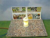 Litfaßsäule LED beleuchtet Licht Modellbau Modelleisenbahn Diorama H0 1:87 #2