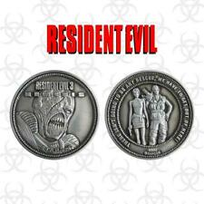 Resident Evil 3 Nemesis Collectable Silver Coin Fanattik Limited Collectors
