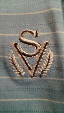 Slazenger Golf Polo style Shirt -Sage Valley - Medium Blue Solid - Mens Large
