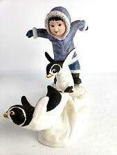 "Franklin Mint Penguin Porcelain Figurine ""Watch Out"" 1990"